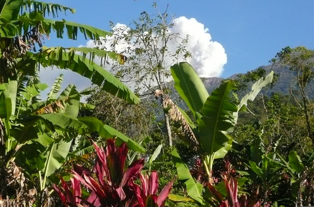 Turrialba Volcano view from guest bedroom