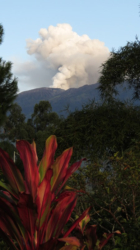 Turrialba Volcano seen from San Rafael, late October, 2014